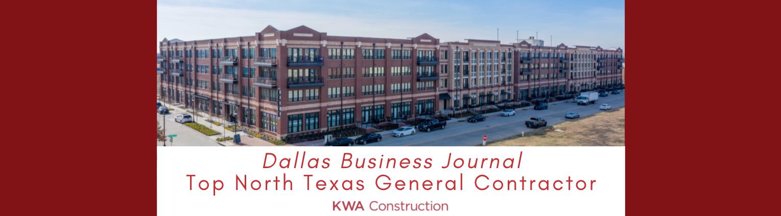 North Texas General Contractors (Dallas Business Journal)